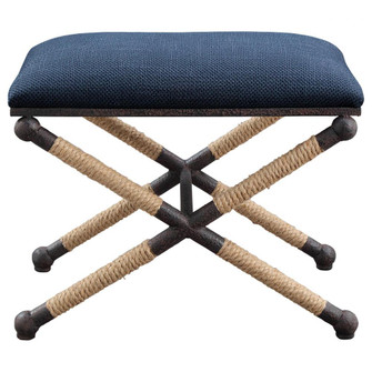Uttermost Firth Small Navy Fabric Bench (85|23598)