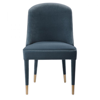 Uttermost Brie Armless Chair, Blue, Set Of 2 (85|23556-2)