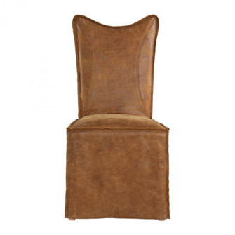 Uttermost Delroy Armless Chairs, Cognac, Set Of 2 (85|23447-2)