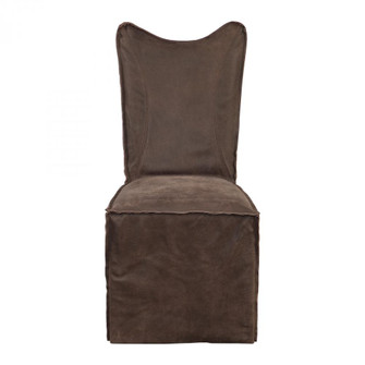 Uttermost Delroy Armless Chairs, Chocolate, Set Of 2 (85|23469-2)
