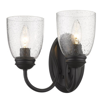 Parrish 2 Light Wall Sconce (36|8001-2W BLK-SD)
