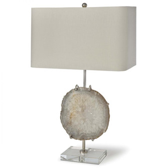 Exhibit Table Lamp (Nickel and Natural Agate) (5533 13-1161)