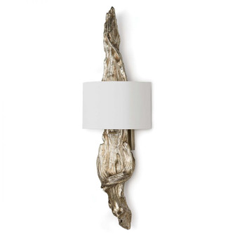 Driftwood Sconce (Ambered Silver Leaf) (5533|15-1011AMBSL)