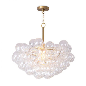 Bubbles Chandelier (Clear) Natural Brass (5533|16-1044NB)