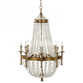 Frosted Crystal Bead Chandelier (5533|16-1056)