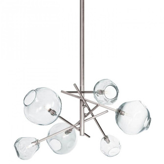Molten Chandelier With Clear Glass (Polished Nic (5533|16-1089PN)