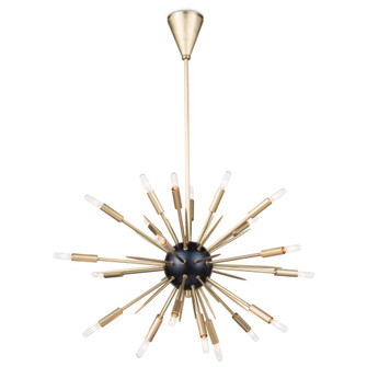 Nebula Chandelier Small (Black and Natural Brass (5533|16-1114BLKNB)