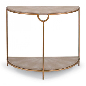 Vogue Shagreen Demilune Console (Ivory Grey and (5533|30-1038IV)