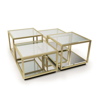 Noel Coffee Table (Natural Brass) - 4 Pieces (5533|30-1087)