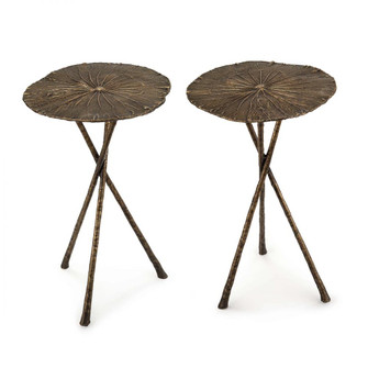 Lotus Table Small (Set of 2) Antique Brass (5533|30-1130AB)