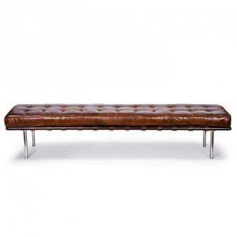 Tufted Gallery Bench (Cigar) (5533|32-1007)