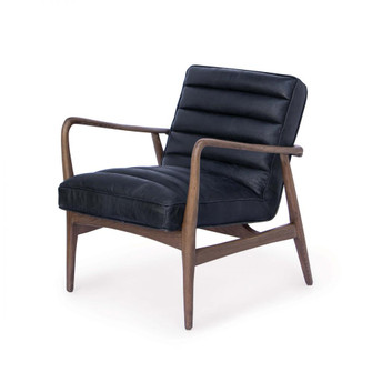 Piper Chair (Antique Black Leather) (5533|32-1093BLK)