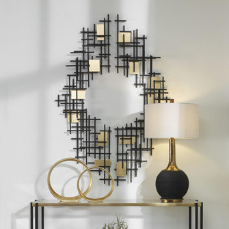 Uttermost Reflection Metal Grid Wall Decor, S/2 (85 04305)