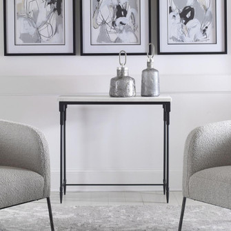 Uttermost Bourges White Marble Console Table (85|25165)
