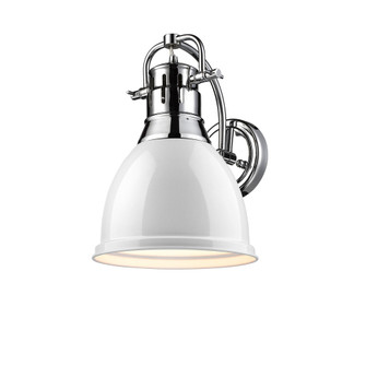 Duncan 1 Light Wall Sconce (36|3602-1W CH-WH)