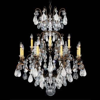 13 Light Crystal Chandelier in Antique Silver (168|3572-48CL)