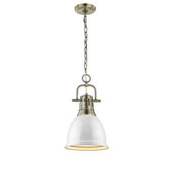 Duncan Small Pendant with Chain (36 3602-S AB-WH)