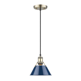 Orwell Small Pendant - 7'' (36 3306-S AB-NVY)