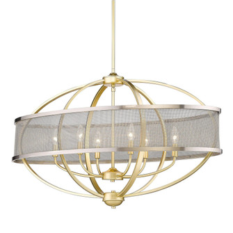 Colson Linear Pendant (with shade) (36|3167-LP OG-PW)