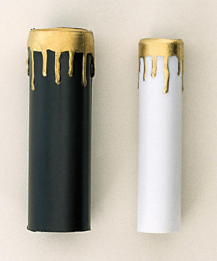 2-4'' WHITE/GOLD DRIP CANDLE CO (27 S70/372)