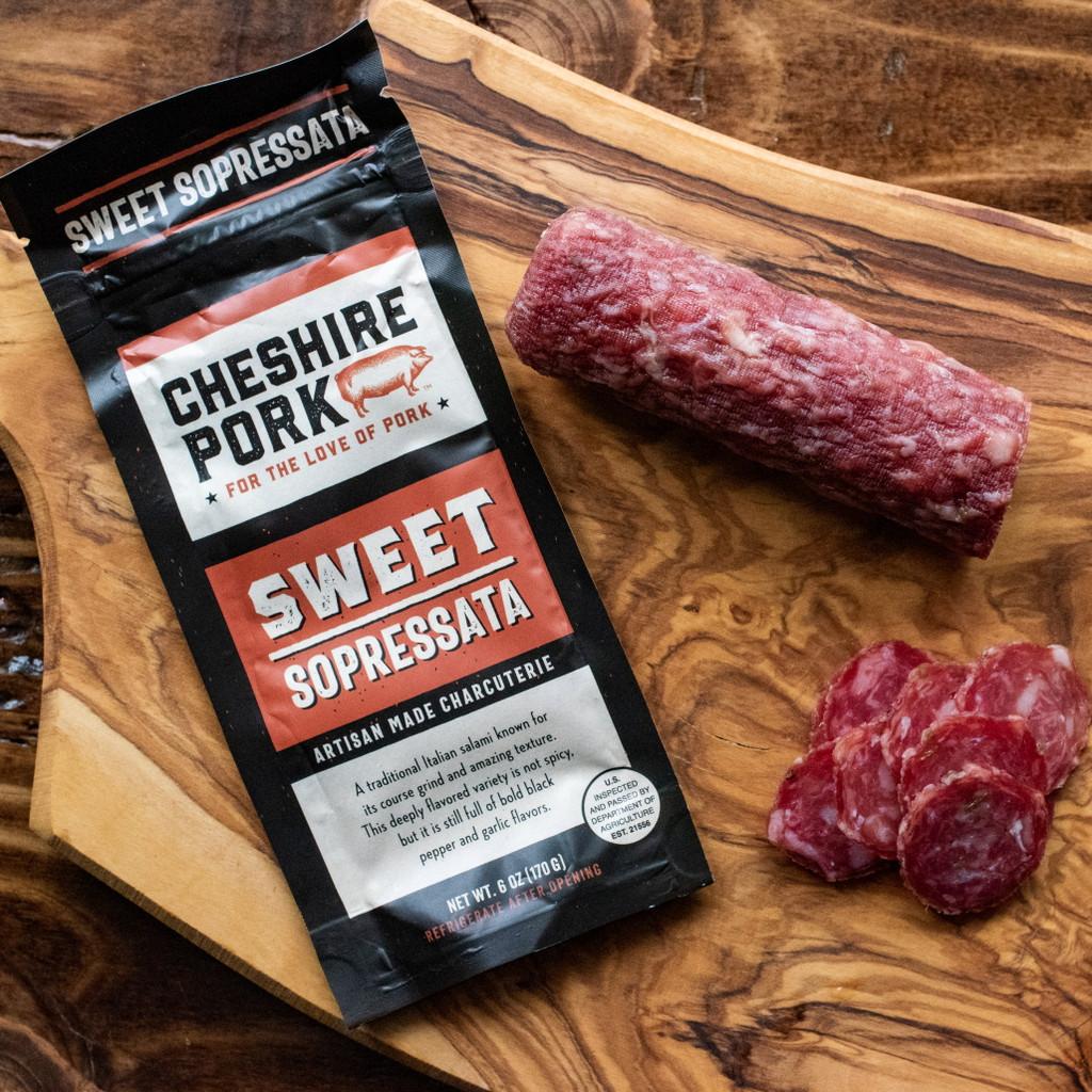 Cheshire Pork Sweet Sopressata 6oz Chub