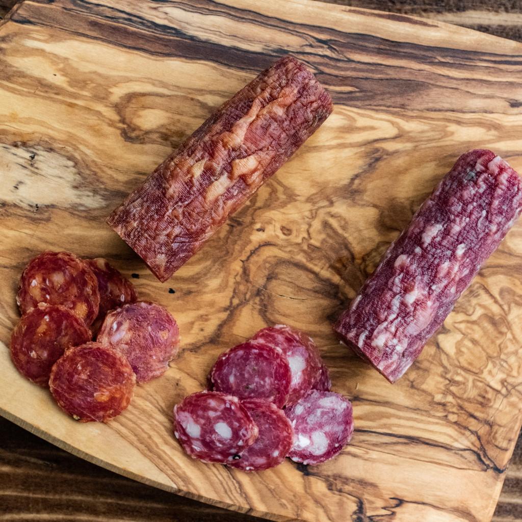 Cheshire Pork Hot Sopressata & Sweet Sopressata 6oz Chub