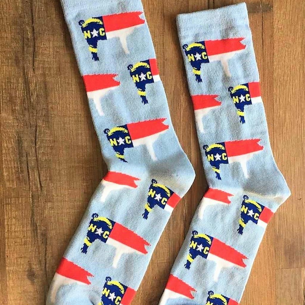 Light Blue NC Pig dress socks