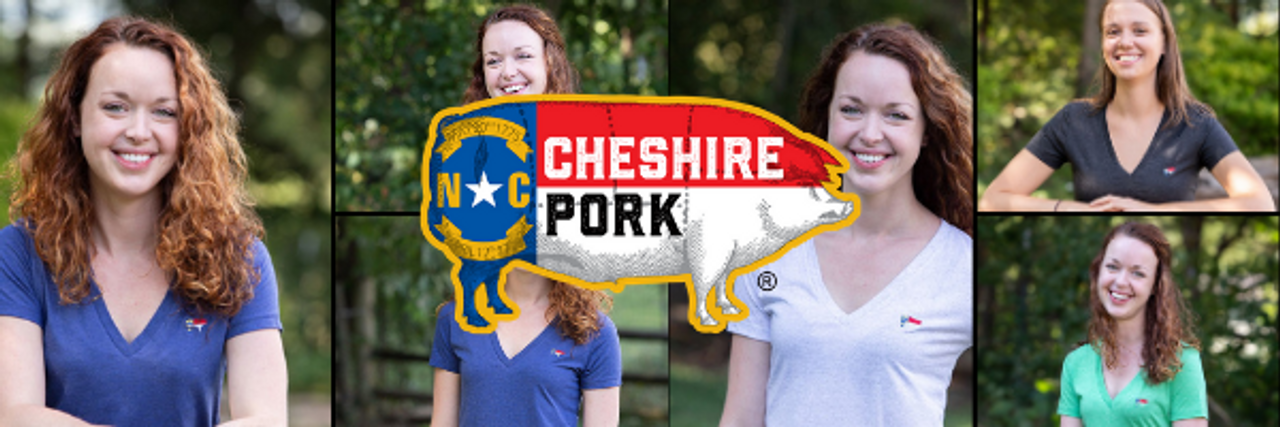 V-Neck NC Pig Flag