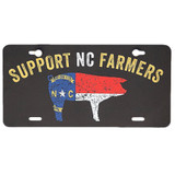 Support NC Farmers License Plate, Black