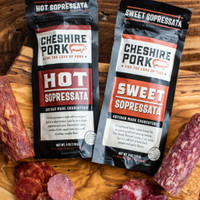 Cheshire Pork Hot & Sweet Sopressata 6 ounce