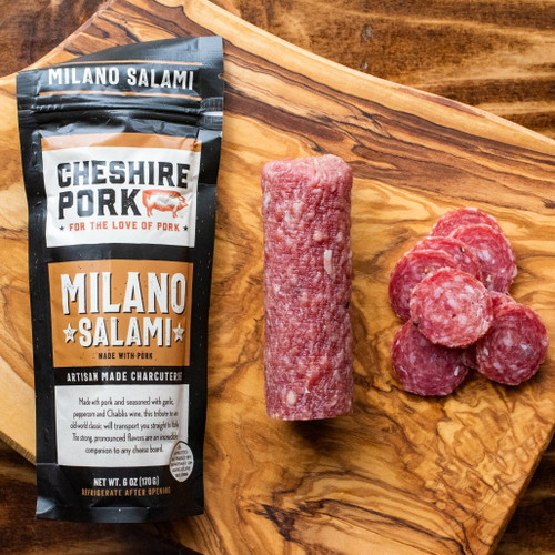 Cheshire Pork Uncured Milano Salami 6oz Chub