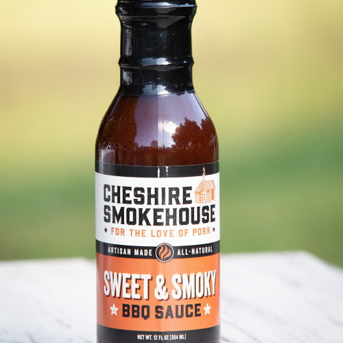 What words do people use to describe the perfect BBQ sauce?  Thick, red, sweet, vinegar, ketchup, and smoky.  The Cheshire Smokehouse Sweet & Smoky BBQ Sauce has it all and then some.  It delivers the earthy, smoky flavor and doesn't overwhelm the sweetness of the sauce.