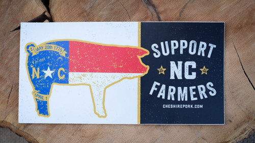 Add this Support NC Farmers bumper sticker to your vehicle and show your love for farming.
