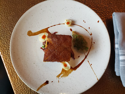 RECIPE: PAN-SEARED CHESHIRE PORK BELLY WITH VIRGINIA PEAR CHUTNEY