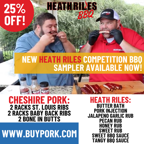 Heath Riles Competition BBQ Sampler