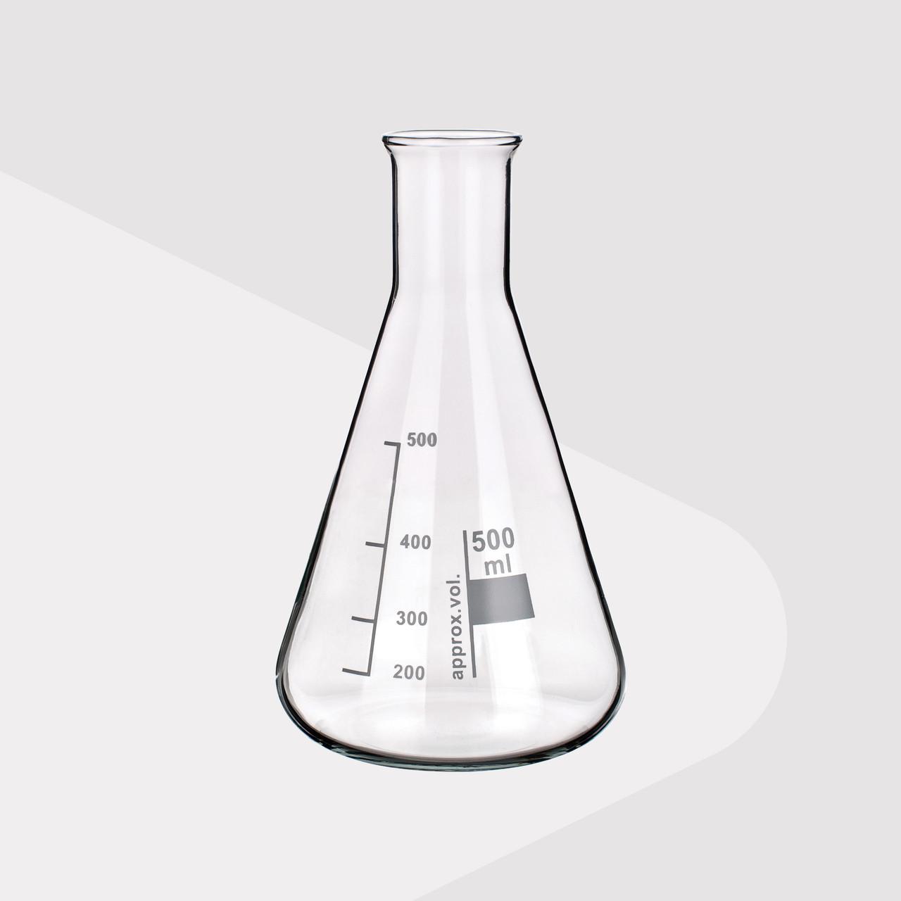 Borosilicate Glass Erlenmeyer Flasks, Narrow Neck, 1000ml