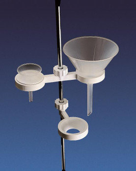 Funnel Holder, Polypropylene, Single Place