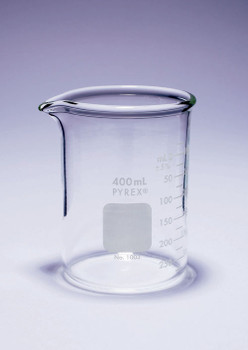 PYREX Super Duty Borosilicate Glass Beaker, 400ml
