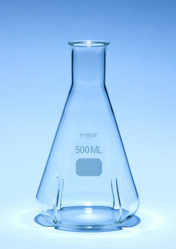 PYREX Erlenmeyer Flask, Baffled for Mixing, 500ml