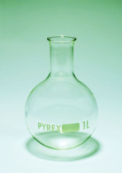 PYREX Glass Round Bottom Boiling Flask, 50ml