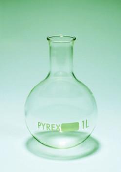 PYREX Glass Round Bottom Boiling Flask, 100ml