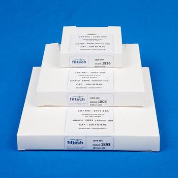 FILTECH Qualitative Filter Paper, No.1893, 150mm (Pack of 100)