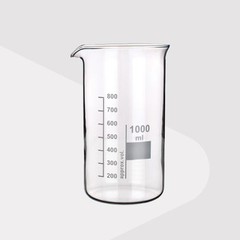 Borosilicate Glass Beakers, Tall Form, 50ml (Pack of 2)