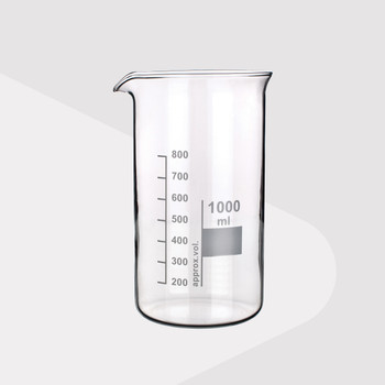 Borosilicate Glass Beaker, Tall Form, 250ml (Pack of 2)