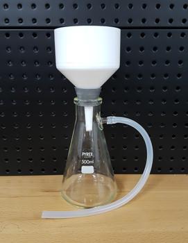 Vacuum Filtration Setup with SIMAX® Heatproof 500ml Filter Flask, 90mm Filter Funnel & Pump (Complete Kit)