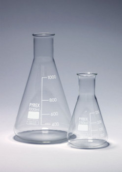 PYREX Borosilicate Glass Erlenmeyer Flask, 500ml (Pack of 2)