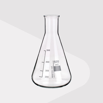 Borosilicate Glass Erlenmeyer Flasks, Narrow Neck, 100ml (Pack of 2)