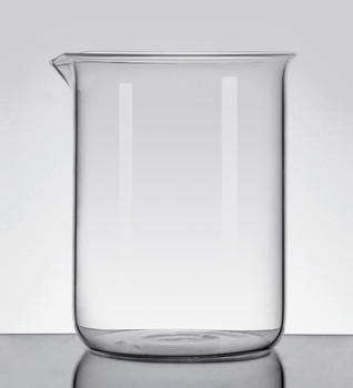 Blank Borosilicate Glass Beaker, Low Form, 600ml (Pack  of 2)