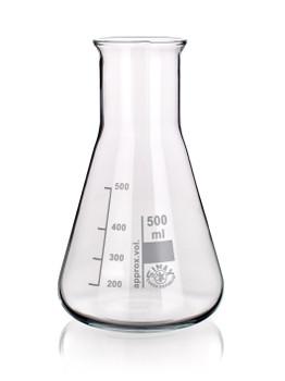 SIMAX Heatproof Glass Erlenmeyer Flask, Wide Neck, 1000ml (Pack of 2)