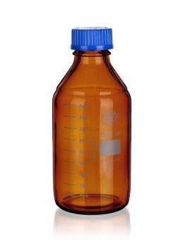 SIMAX Heatproof Amber Coated Media Bottle with Screw Cap, 500ml
